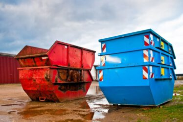huren afvalcontainer
