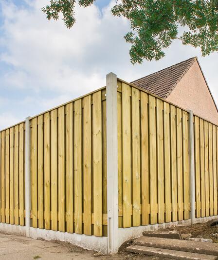 houten schutting